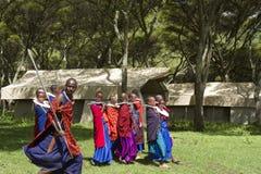 Maasi Village, during ceremony, Ngorongoro Conservationa Area, T Stock Photography