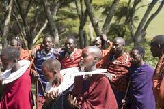 Maasi Village during ceremony, Ngorongoro Conservationa Area, Ta Royalty Free Stock Images
