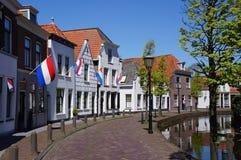 Maasland by i Nederländerna royaltyfria bilder