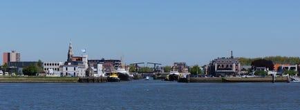 Maassluis Nederländerna Arkivfoton