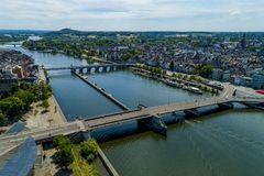 Maastricht aerial netherlands royalty free stock photo