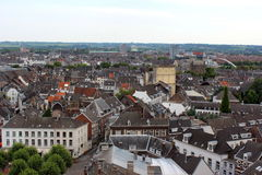 Maastricht - Aerial view stock photography