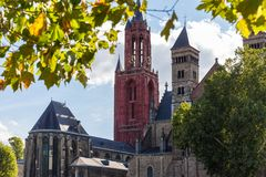 Maastricht city in the netherlands royalty free stock photos