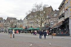 Maastricht, die Niederlande - Marktplatz Stockfoto