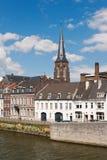 Maastricht embankment Stock Image