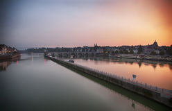 Maastricht  by evening Royalty Free Stock Photo