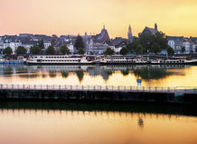 Maastricht by evening stock image