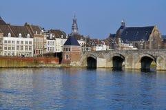 Maastricht gammal bro Royaltyfri Foto