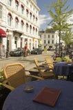 Maastricht-Kaffee Stockbilder