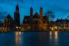Maastricht na noite Os Países Baixos foto de stock