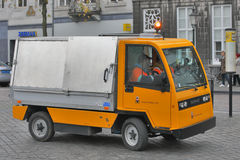Maastricht, Nederland - de Gemeentelijke schoonmakende Dienst Royalty-vrije Stock Foto