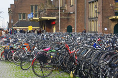 Maastricht, Netherlands - Bicycle parking Royalty Free Stock Photo