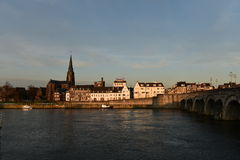Maastricht, Netherlands. View after sunset Stock Photo