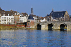 Maastricht old bridge. In Netherlands Royalty Free Stock Photo