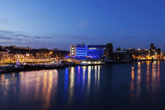Maastricht panorama along Meuse River royalty free stock photography