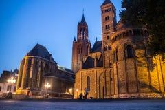 Maastricht por noche fotos de archivo libres de regalías