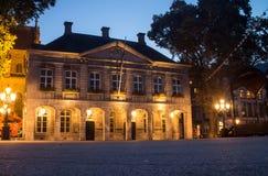 Maastricht por noche Foto de archivo