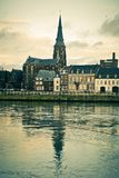 Maastricht. River Maas, St Martins Church view Stock Image