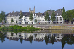 Maastricht and River Meuse Royalty Free Stock Photography
