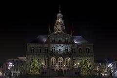 Maastricht urząd miasta na rynku Zdjęcia Royalty Free