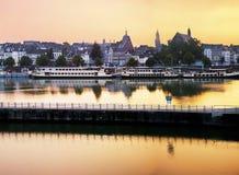Maastricht vid afton Fotografering för Bildbyråer