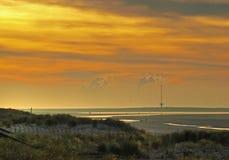 Maasvlakte в тумане Стоковая Фотография RF