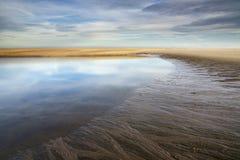 Maasvlakte-Strand nahe Rotterdam Stockfotos