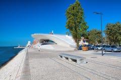 MAAT Museu de Arte, κτήριο Arquitetura ε Tecnologia στη Λισσαβώνα, Πορτογαλία Στοκ Εικόνα