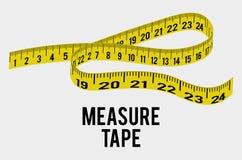 Maatregel band en het op dieet zijn stock illustratie