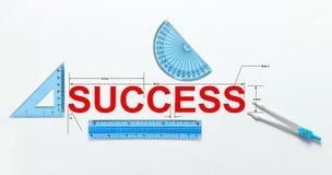 Maatregel van succes stock foto's