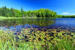 Mabel Lake Northwoods Wisconsin Stock Photo
