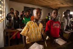 Mabendo, малая деревня в Сьерра-Леоне, Африке Стоковое Фото