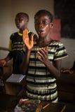Mabendo, малая деревня в Сьерра-Леоне, Африке Стоковая Фотография RF