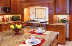 Mable Küche-Zählwerk Stockfoto