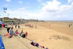 Mablethorpe海滩,林肯郡 库存图片