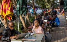 Maboneng precinct cafe. stock photo