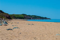 Mabou Beach. Image of beach taken in beautiful Mabou, Nova Scotia. The greens and blues are beautiful and vibrant Royalty Free Stock Images