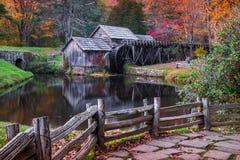Mabry-Mühle, blauer Ridge Parkway, Virginia Stockfotografie