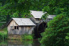 Mabry Mill. Evening at Mabry Mill, located in Virginia on the Blue Ridge parkway Stock Photo