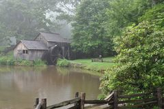 Mabry Mill on the Blue Ridge Stock Photography