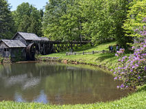 Mabry Mill in the Blue Ridge Mountains of Virginia USA. Mabry Mill was a grist mill  grinding grain into flour on the Blue Ridge Parkway in Virginia. It now a Royalty Free Stock Images
