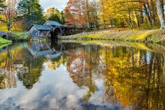 Mabry Mill on Blue Ridge Parkway. In October Royalty Free Stock Photography
