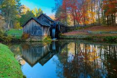 Mabry Mill on Blue Ridge Parkway Stock Image
