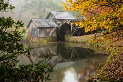 Mabry Mill on Blue Ridge Parkway. In October Stock Photography