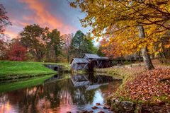 Mabry Mill on Blue Ridge Parkway. In October Royalty Free Stock Photos