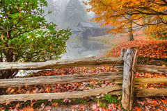 Mabry Mill on Blue Ridge Parkway. In October Royalty Free Stock Images