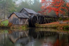 Mabry Mill on Blue Ridge Parkway. In October Stock Photo