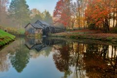 Mabry Mill on Blue Ridge Parkway Royalty Free Stock Images