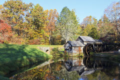 Mabry Mill. Historic Mabry Mill on the Blue Ridge Parkway in Meadows of Dan, Virginia in the fall royalty free stock photo