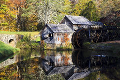 Mabry Mill. Historic Mabry Mill on the Blue Ridge Parkway in Meadows of Dan, Virginia in the fall stock photos